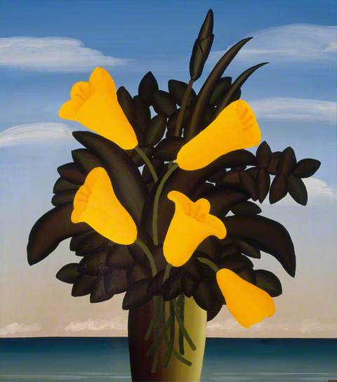 Flower Piece by Jack Knox. Image courtesy of BBC Your Paintings, City of Edinburgh Council, City Art Centre