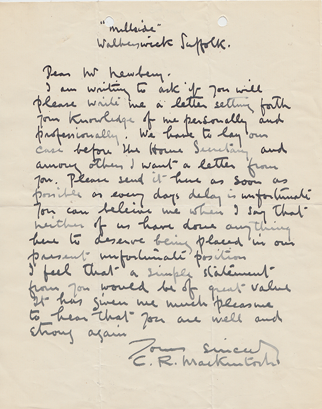 A letter from charles rennie mackintosh asking for a reference from a letter from charles rennie mackintosh asking for a reference from the director of the school spiritdancerdesigns Image collections