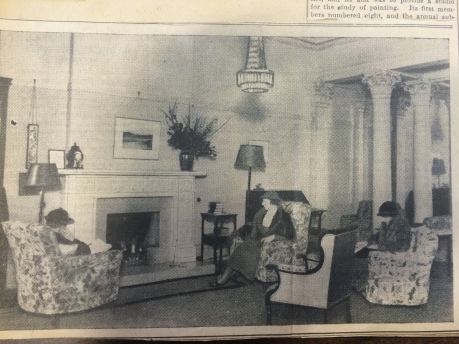 Ladies Drawing Room at Blythswood Square, Glasgow Herald, March 1936. Image courtesy of GU Feminist History