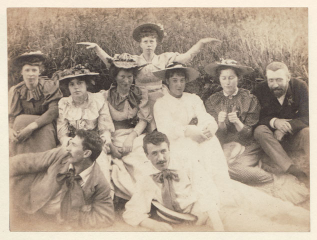 Charles Rennie Mackintosh and his art school associates, some of whom exhibited at Turin, c1893, The Glasgow School of Art Archives and Collections, Archive reference DC/004/9.