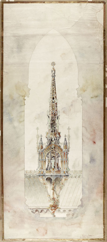 Design for Church/Cathedral Spire, GSA Archives and Collections (archive reference: NMC/375/3)