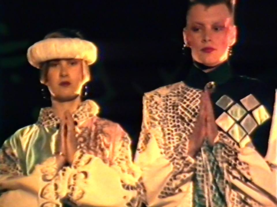 A number of garments from the 1985 fashion show followed an Oriental theme.