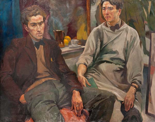 Painting of The Two Roberts by Ian Fleming from our collection (Archive Reference: NMC/020)