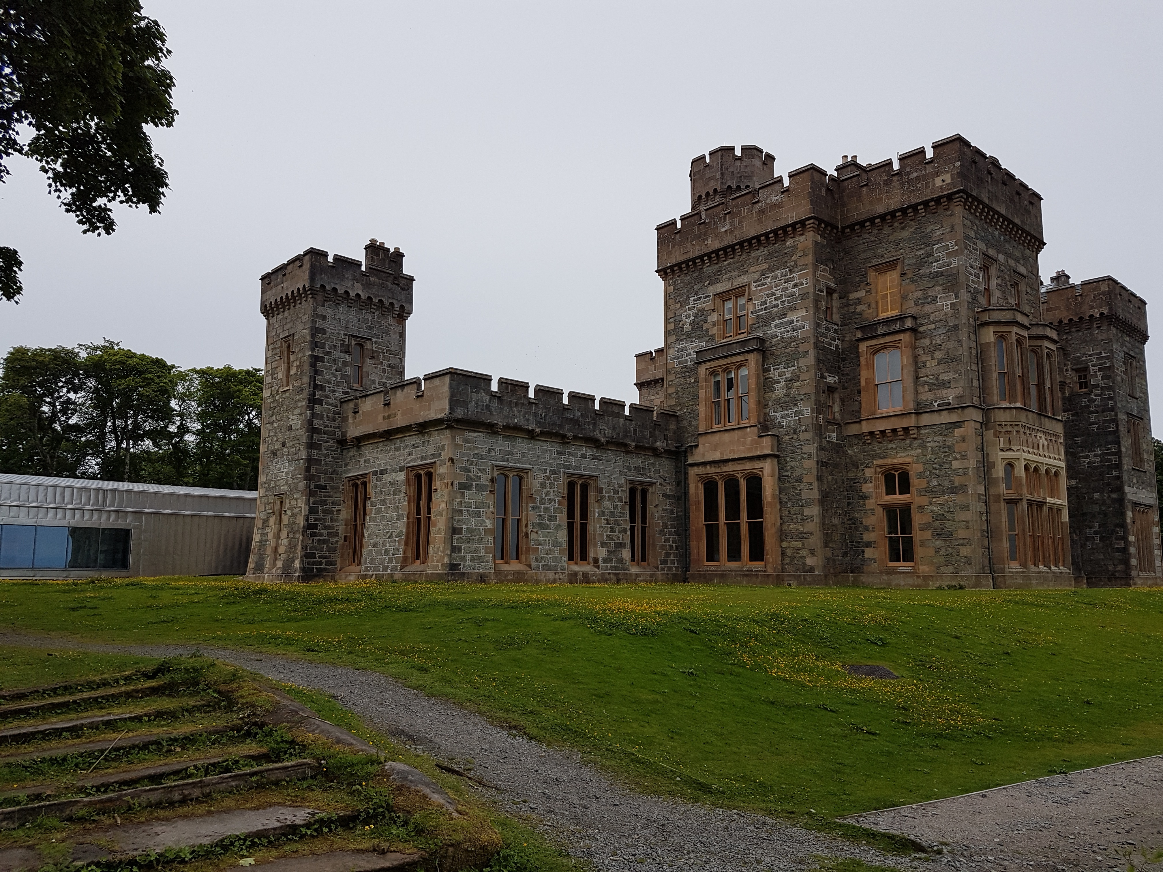 Lews Castle with the Archive to the rear.