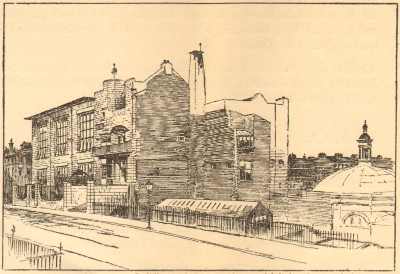 Perspective of the Glasgow School of Art, Phase 1, Alexander McGibbon, 1907, (Archive Reference: GSAA/GOV/5/3/13)