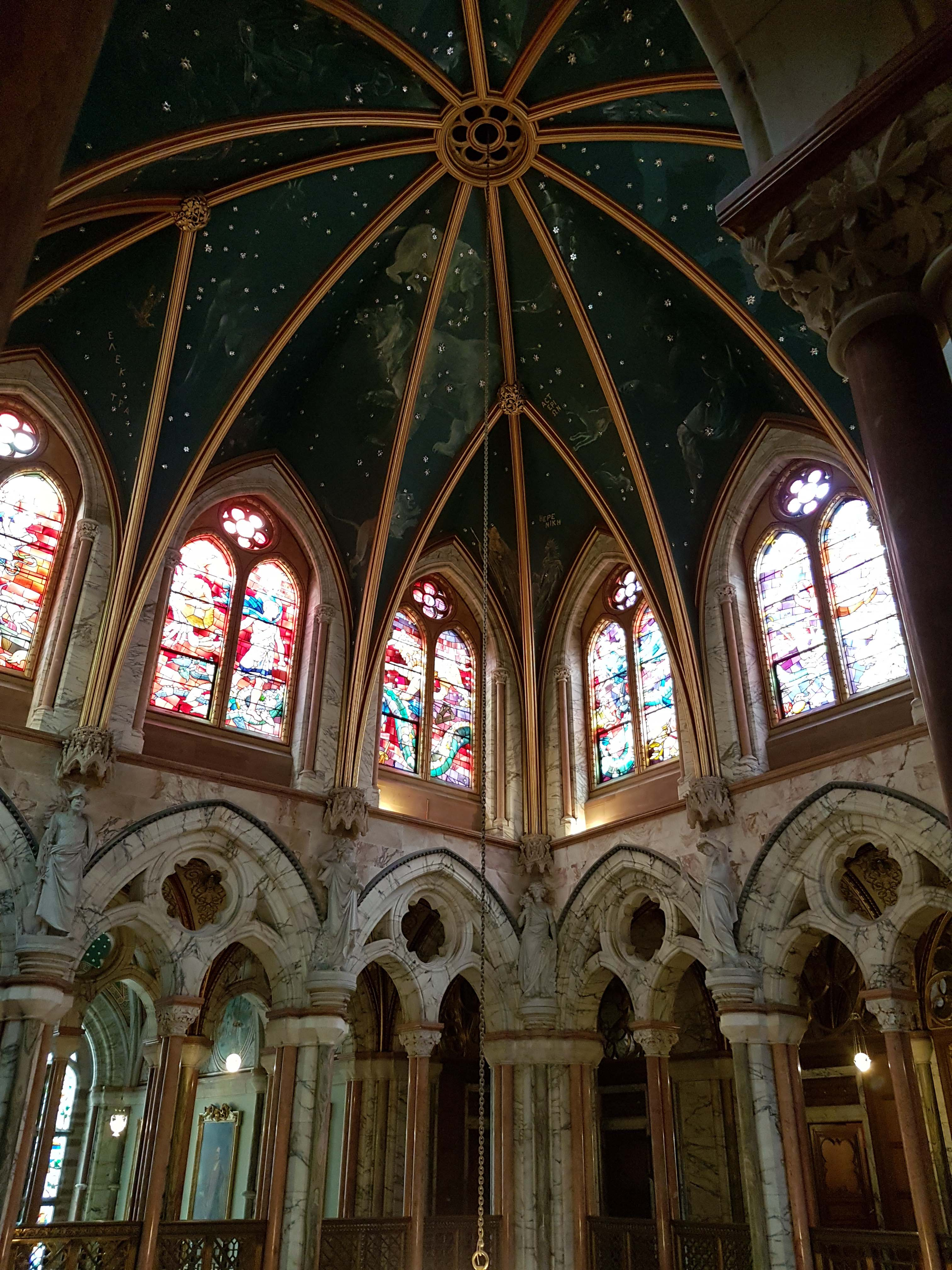 Mount Stuart Archives hold the original drawings for the stained glass windows depicting the signs of the zodiac.