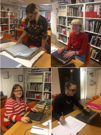 Some of our volunteers busy researching!