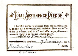Abstinence Pledge card (DIR/5/38/2/1)