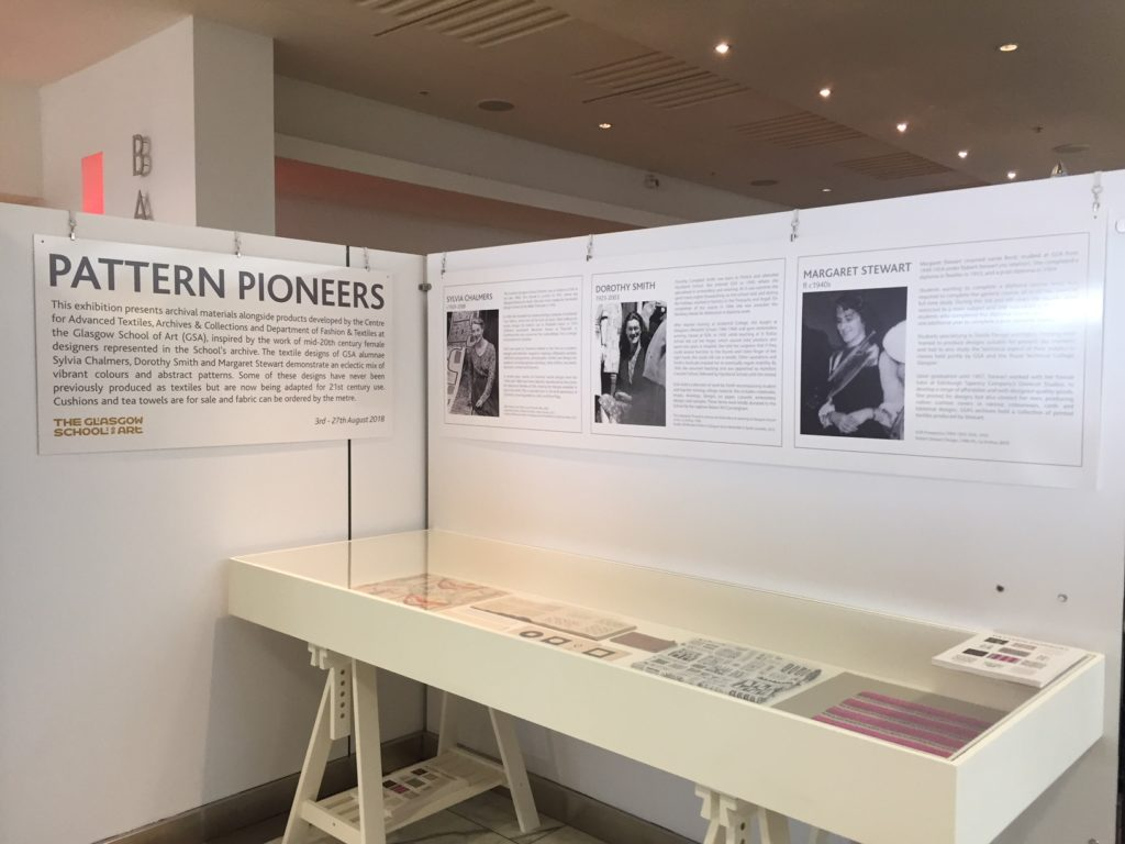 Pop-up exhibition of archive material at Harvey Nichols, Edinburgh