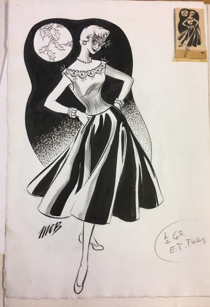 Fashion Illustration by Margaret Oliver Brown (Archive Reference: DC 051/2)
