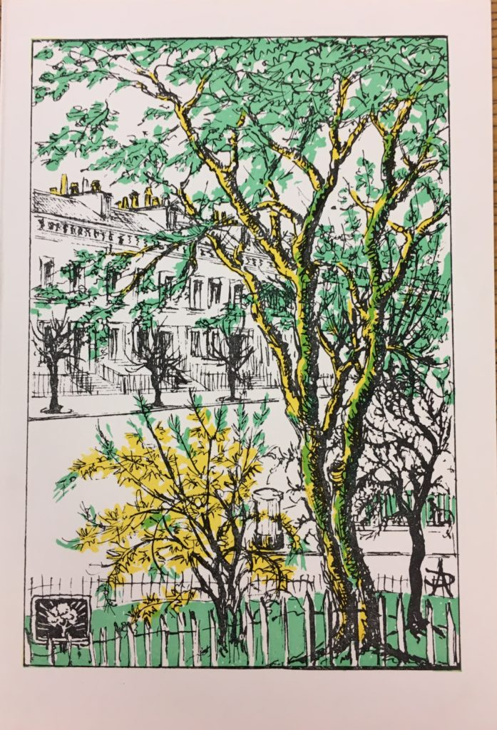 Christmas Card designed for the Glasgow Tree-Lovers Society by Daisy Anderson (Archive Reference: DC 022/5/9a)